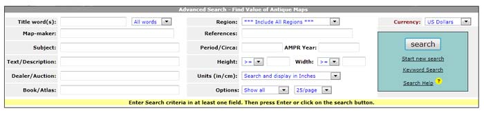 How to use the Advanced Search page